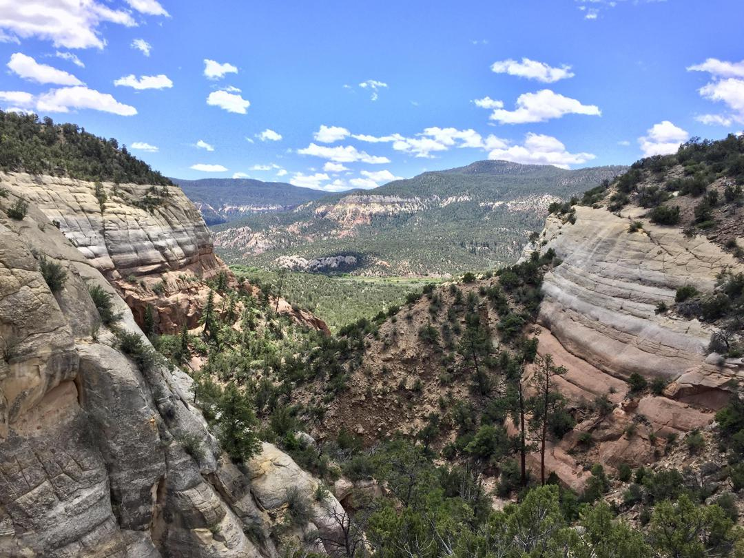 Chavez Canyon looking toward Chama Canyon.